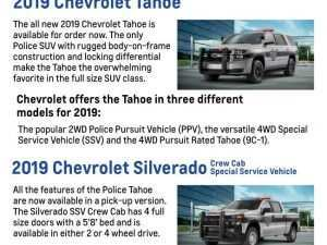 31 A 2019 Chevrolet Police Vehicles Review and Release date