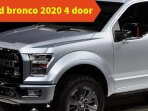 41 A 2020 Ford Bronco 4 Door Price Performance and New Engine