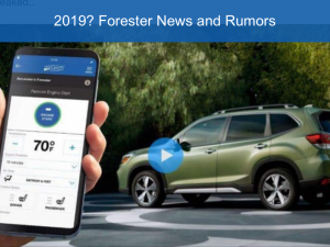 Next Generation Subaru Forester 2019