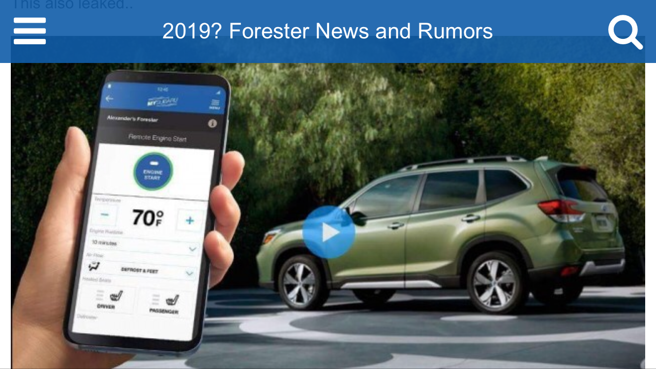 45 A Next Generation Subaru Forester 2019 Pricing