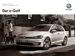 54 All New 2019 Vw E Golf Redesign and Review