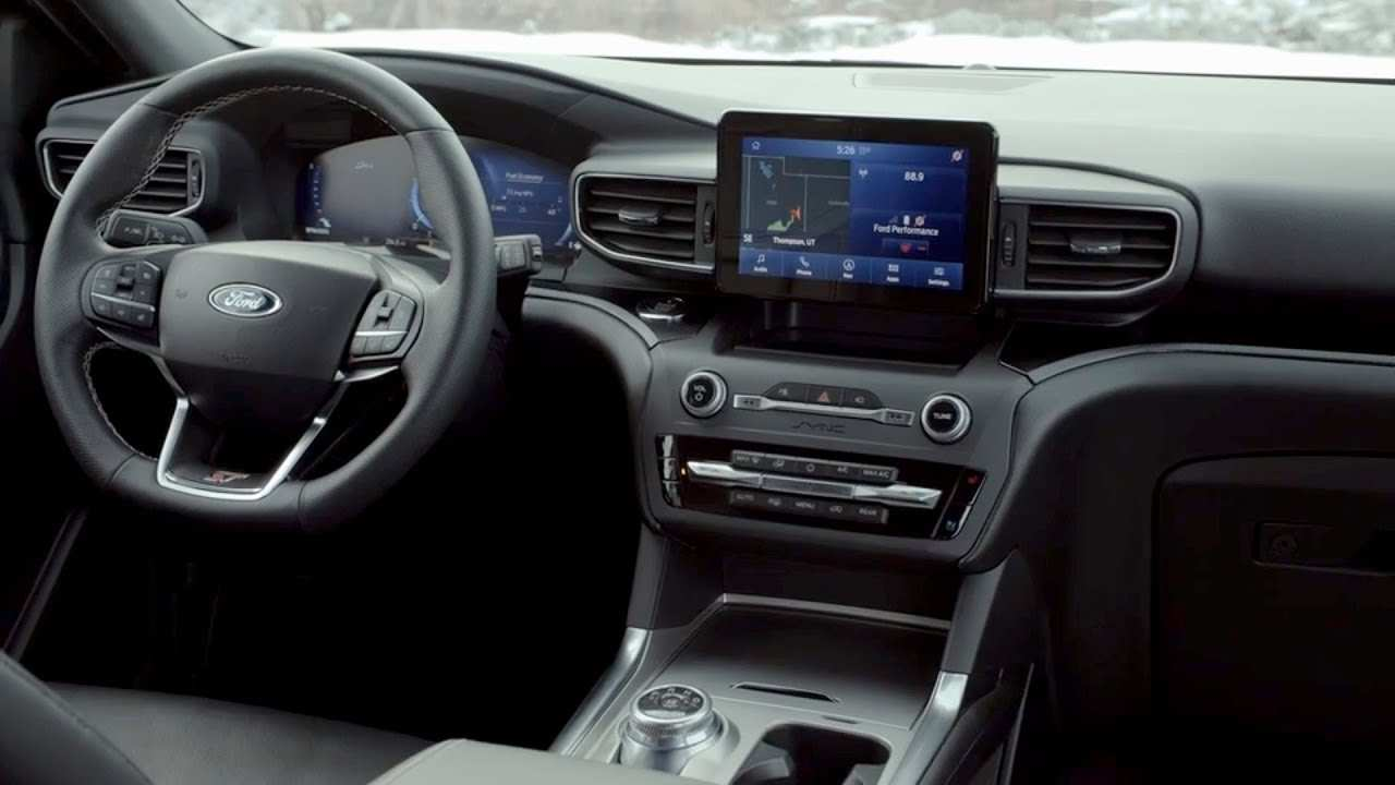 64 New Ford Explorer 2020 Interior Spy Shoot